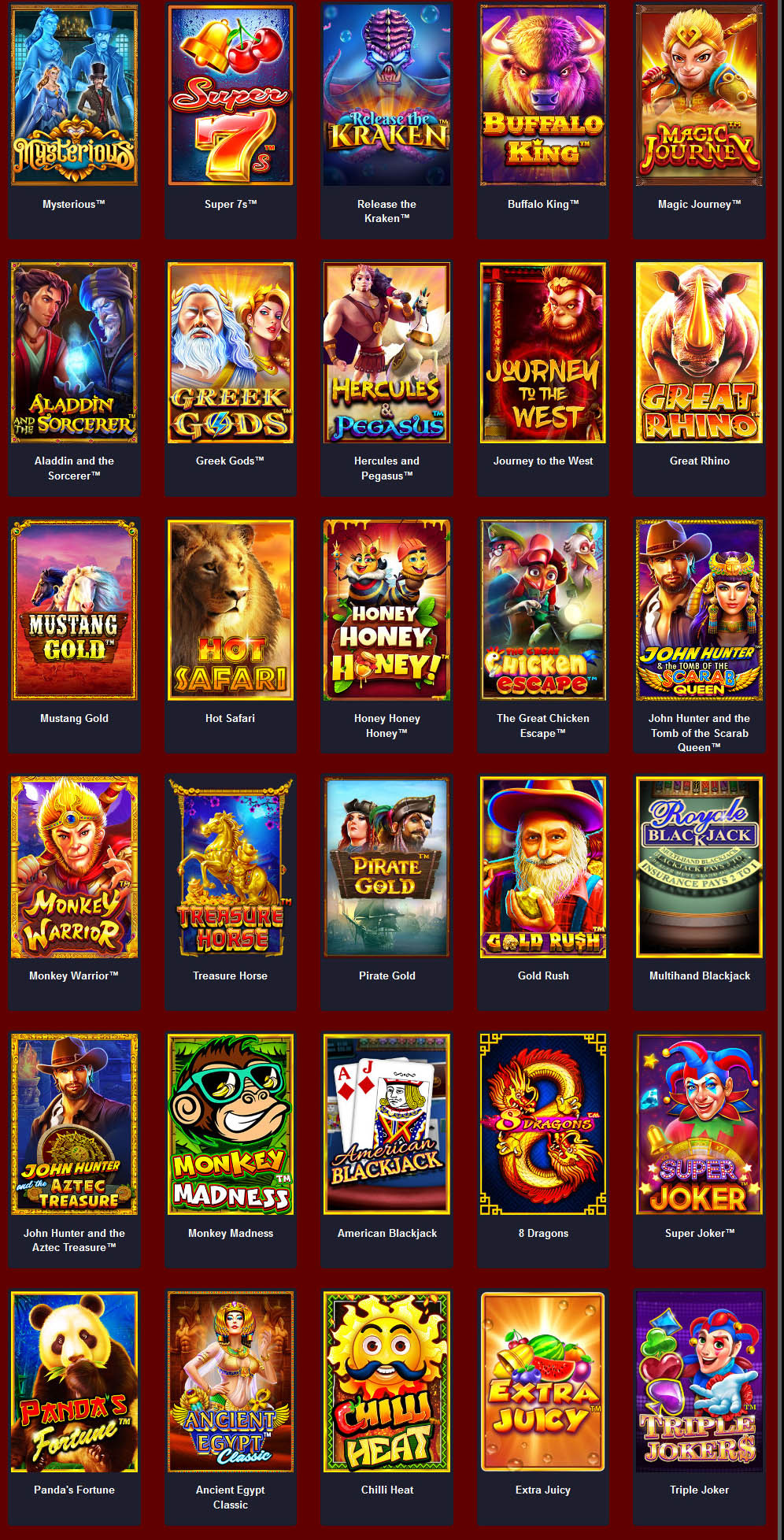 สล็อต pragmatic play slot online list 4