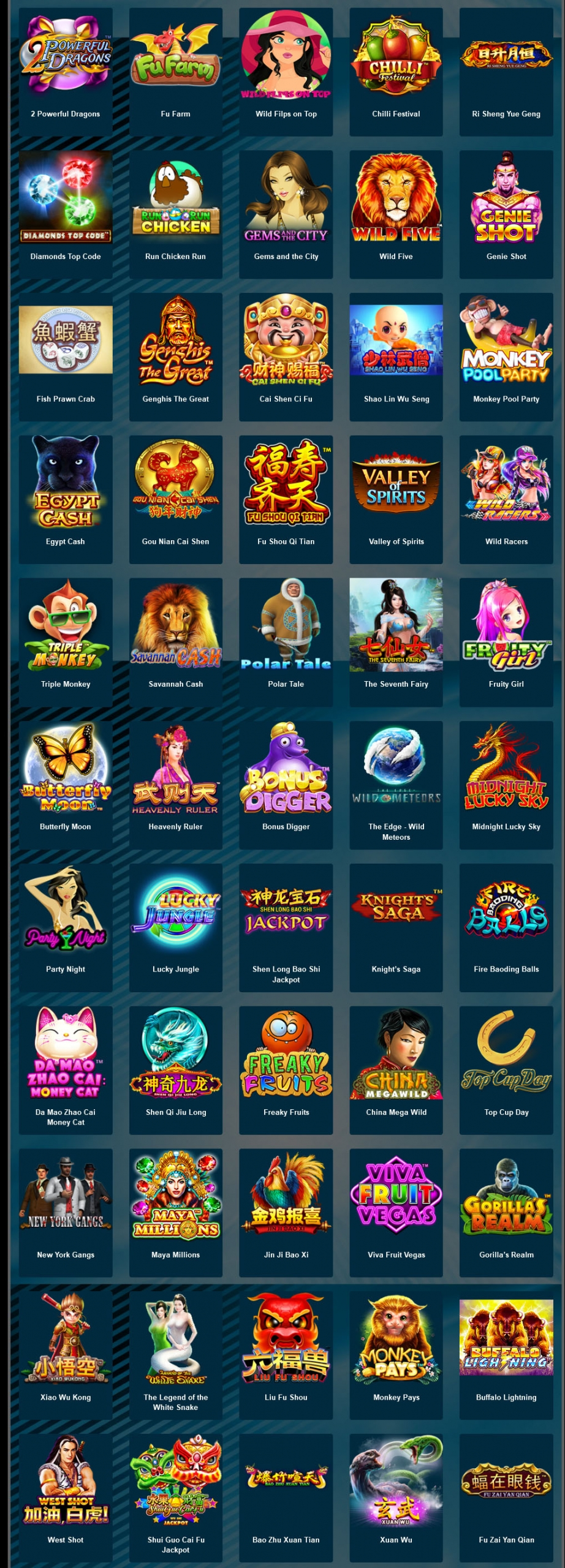 สล็อต skywind slot game list 2